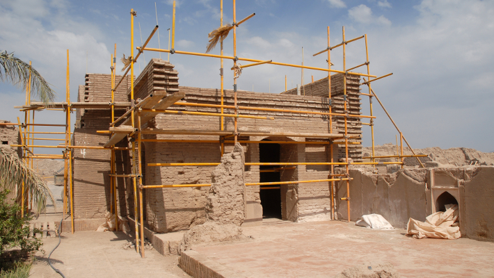 Rebuilding work on the Sistani House.