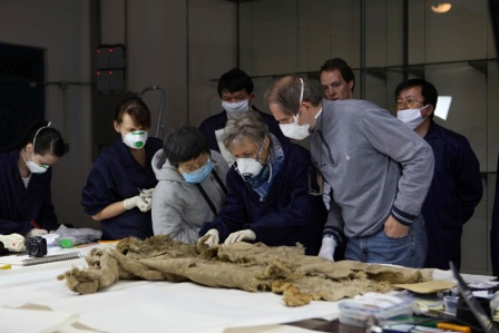German and Chinese researchers at work.