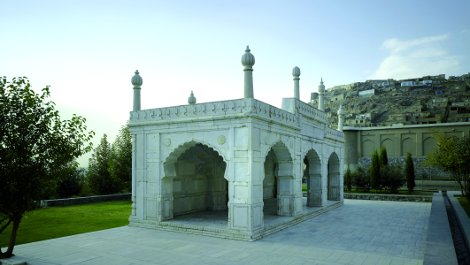 Shah Jahan's marble mosque.