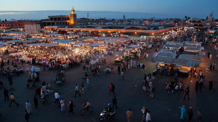 "Jemaa El Fna in Marrakech – ""Hanged Man's Square""."