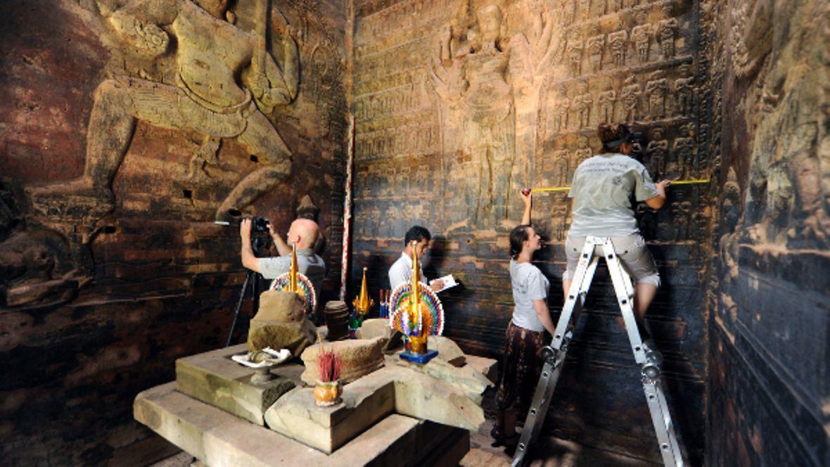 Resoration work in Angkor