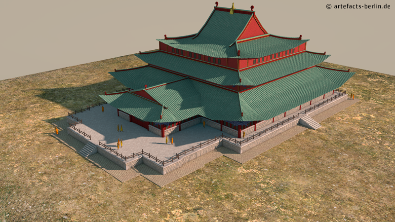 Reconstructed temple of Karakorum.