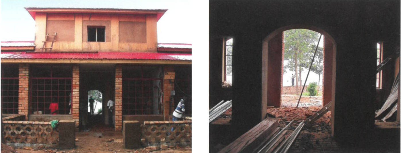 Construction work at Kandt House